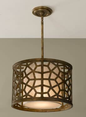 Murray Feiss Medina Medina P1180OBZ 1 Light Pendant in Oxidized Bronze Finish Lighting
