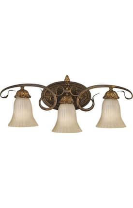 Murray Feiss Sonoma Valley Sonoma Valley VS10903ATS 3 Light Bath Fixture in Aged Tortoise Shell Finish Lighting