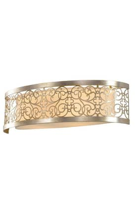Murray Feiss Arabesque Arabesque VS16702SLP 2 Light Bath Fixture in Silver Leaf Patina Finish Lighting