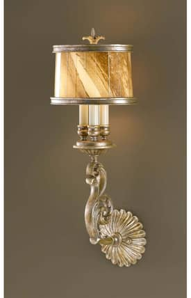 Murray Feiss Bancroft Bancroft Wall Sconce in Oxidized Silver Leaf Finish Lighting