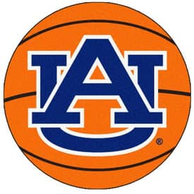 Fanmats Basketball Auburn Basketball Rug
