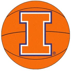 Fanmats Basketball Illinois Basketball Rug