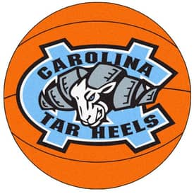 Fanmats Basketball UNC North Carolina Chapel Hill Basketball Rug