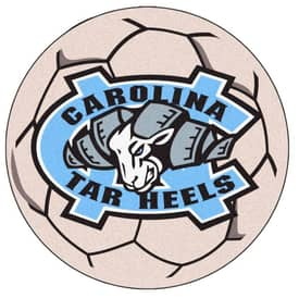 Fanmats Soccer UNC North Carolina Chapel Hill Soccer Ball Rug