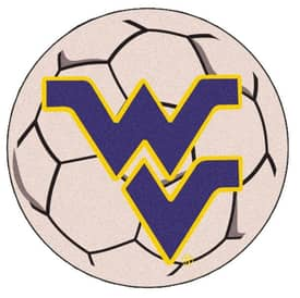 Fanmats Soccer West Virginia Soccer Ball Rug