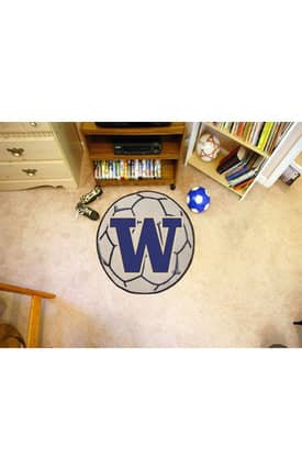 Fanmats Soccer Washington Soccer Ball Rug