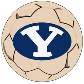 Fanmats Soccer Brigham Young Soccer Ball Rug