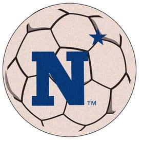 Fanmats Soccer US Naval Academy Soccer Ball Rug