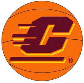 Fanmats Basketball Central Michigan Basketball Rug
