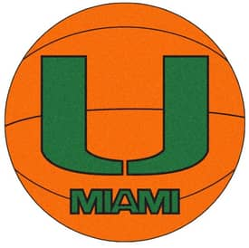 Fanmats Basketball Miami Basketball Rug