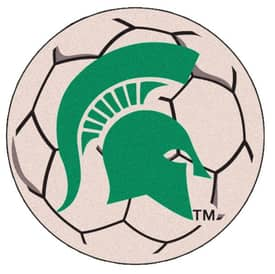 Fanmats Soccer Michigan State Soccer Ball Rug