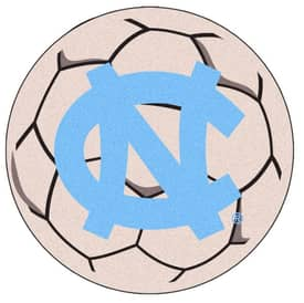 Fanmats Soccer UNC North Carolina Chapel Hill Soccer Ball I Rug
