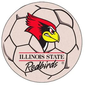 Fanmats Soccer Illinois State Soccer Ball Rug