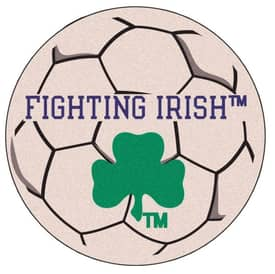 Fanmats Soccer Notre Dame Fighting Irish Soccer Ball Rug