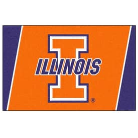 Fanmats College Rugs University of Illinois Rug