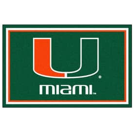 Fanmats College Rugs University of Miami Rug