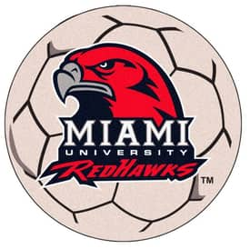 Fanmats Soccer Miami of Ohio Soccer Ball Rug
