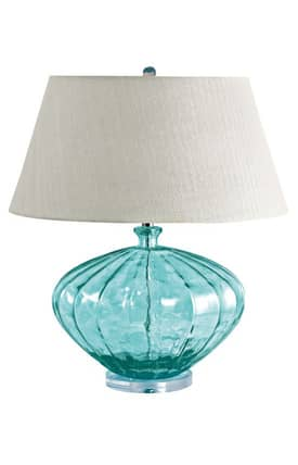 Lamp Works Glass Recycled Glass Table Lamp in Melon Finish Lighting