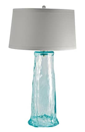 Lamp Works Glass Recycled Glass Waterfall Table Lamp in Clear Finish Lighting