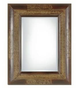 Uttermost Classic Palesa Mirror in Rustic Black and Brown Finish