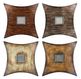 Uttermost Modern Lasaro Squares (Set of 4) Mirrors