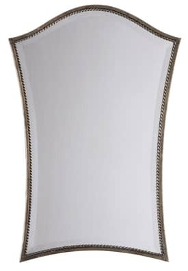 Uttermost Modern Sergio Vanity Mirror in Antiqued Silver Leaf Finish