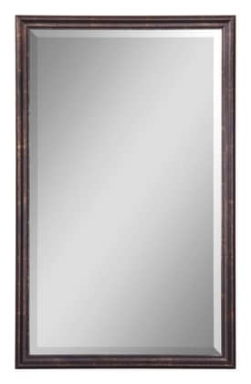 Uttermost Modern Renzo Vanity Mirror in Distressed Bronze With Gold Leaf Highlights Finish