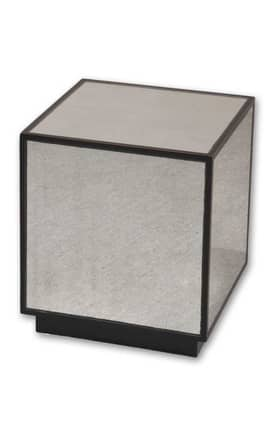 Uttermost Tables Matty Mirrored Cube Furniture