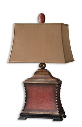Uttermost Pavia Pavia 26326 Table Lamp in Aged Red Finish Lighting