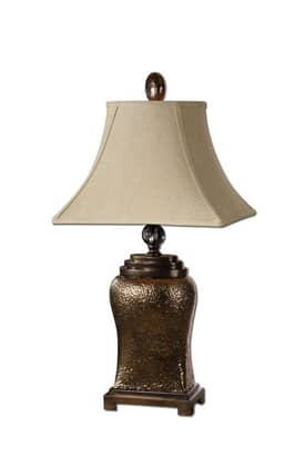 Uttermost Easton Easton 26515 Table Lamp in Metallic Bronze Glaze Finish Lighting