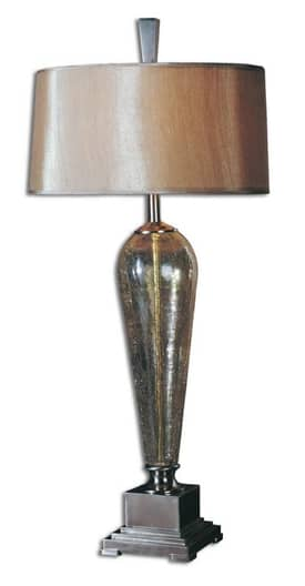 Uttermost Modern Celine Table Lamp with Brushed Nickel Finish Lighting