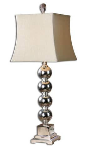 Uttermost Modern Sachie, stacked spheres Table Lamp with Silver Finish Lighting