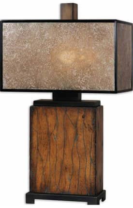 Uttermost Sitka Sitka 26757-1 Table Lamp in Distressed Rustic Mahogany Finish Lighting
