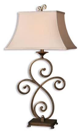 Uttermost Aleria Aleria 26885 Table Lamp in Heavily Antiqued Silver Champagne Finish Lighting