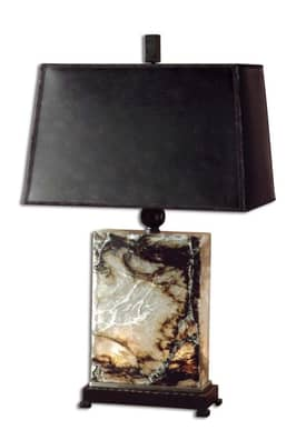 Uttermost Classic Marius Table Lamp with Black, Brown & Ivory Finish Lighting