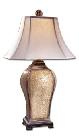 Uttermost Classic Baron Table Lamp with Porcelain Crackle Finish Lighting