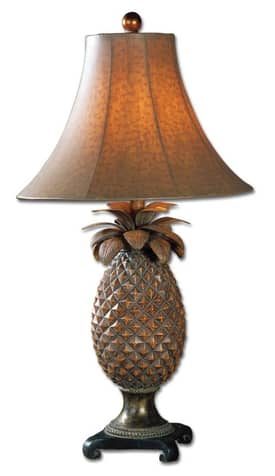 Uttermost Crafty Anana Table Lamp with Brown Glazed Finish Lighting