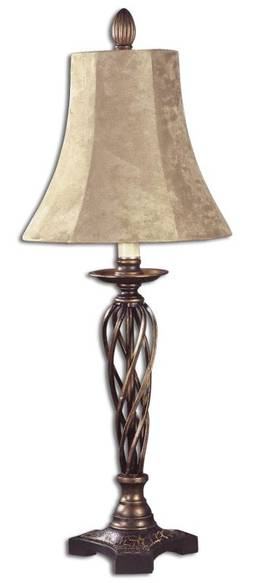 Uttermost Classic Karissa Table Lamp with Distressed Bronze Finish Lighting