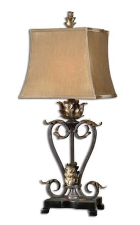 Uttermost Classic Tuscan leaves Table Lamp with Antique Bronze Finish Lighting