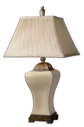 Uttermost Classic Ivan Table Lamp with Antique Champagne Finish Lighting