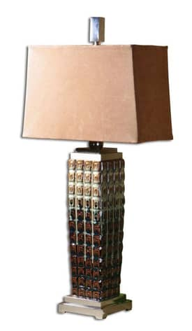 Uttermost Classic Kennice Table Lamp with Multi Color Finish Lighting