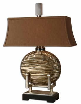 Uttermost Modern Rhona Table Lamp with Antique Silver Finish Lighting