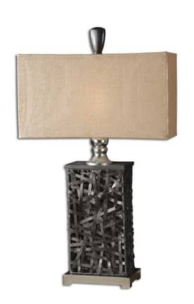 Uttermost Modern Alita Table Lamp with Nickel Finish Lighting