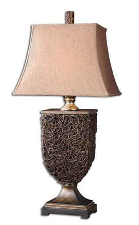 Uttermost Classic Knotted rattan Table Lamp with Natural Rattan Finish Lighting