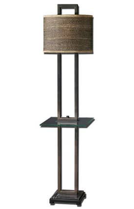 Uttermost Stabina Stabina 28718-1 Floor Lamp in Rustic Bronze Finish Lighting