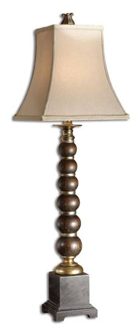 Uttermost Classic Mahari Buffet Table Lamp with Dark Wood Tone Finish Lighting