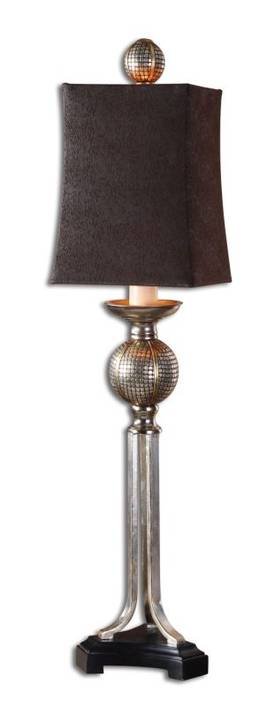 Uttermost Classic Afton Buffet Table Lamp with Antique Champagne Silver Finish Lighting