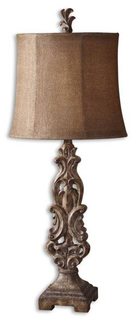 Uttermost Gia Gia Buffet Lamp in Antiqued Light Brown Finish Lighting