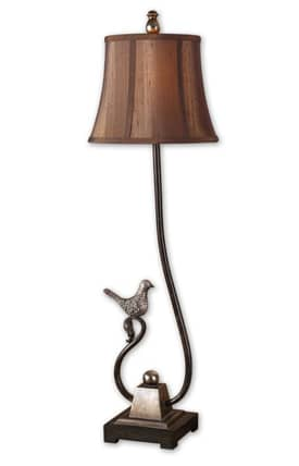 Uttermost Peaceful Peaceful 29165 Table Lamp in Rustic Dark Bronze Finish Lighting