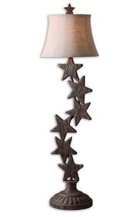 Uttermost Starlight Starlight 29171 Table Lamp in Dark Walnut Finish Lighting